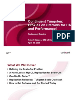 Continuent Tungsten  Proxies on Steroids for HA and Performance! Presentation