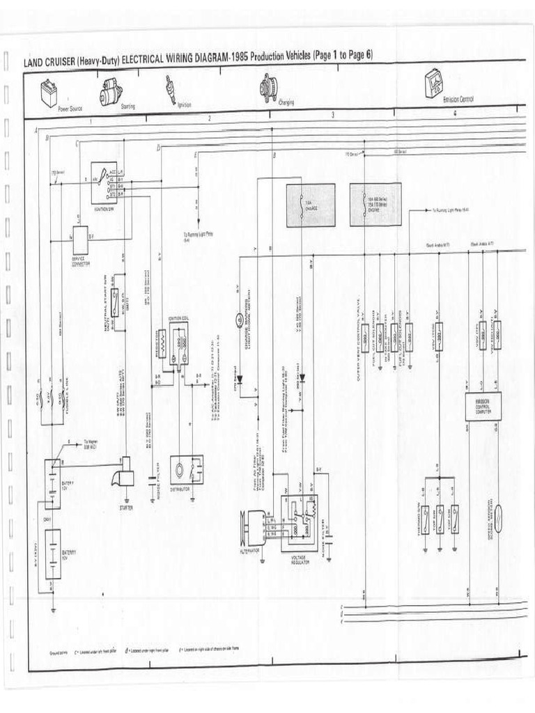 Toyota Landcruiser HJ60 Wiring Diagram