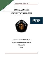 Buku Data Alumni 1961 2009 Fapet UB
