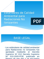 Estándares de Calidad Ambiental Para Radiaciones No Ionizantes Ppt