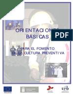 Orientaciones Básicas Para El Fomento de La Cultura Preventiva