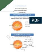 Morphology of Earth