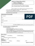 Formulaire d'Inscription - SB2015