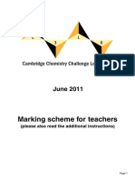 C3L6 Teachers Mark Scheme 2011
