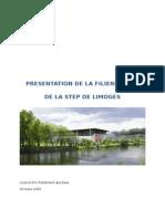 STEP LIMOGES Rapport Sur La Filière Boues