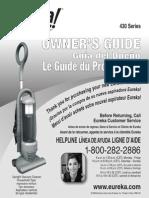 Eureka! 430 Series Vacuum Cleaner Owner's Guide