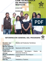 Presentación Especializacion Tecnologica Diseño Productos Turisticos AGOSTO 19 2014 (1)