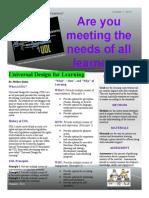 UDL Newsletter