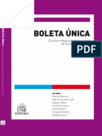 Boleta Única, estudio comparado de Córdoba y Santa Fe