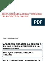 Complicaciones Agudas y Cronicas Del Paciente en Diálisis
