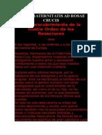 Fama Fraternitatis Ad Rosae Crucis