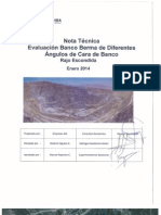 CG MEL-2014-01 - Evaluación Banco Berma Diferentes Ángulos Cara de Banco