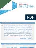 Sintesis Censo 2012