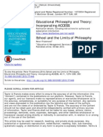 Fitzsimons - 'School and the Limits of Philosophy'