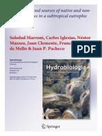2014- Marroni Et Al. Hydrobiol Alternative Food Sources