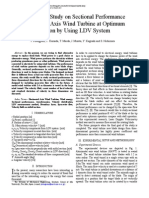 Experimental Study on Sectional Performance of Horizontal Axis Wind Turbine at Optimum Operation by Using LDV System