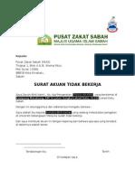 Surat Akuan Tidak Bekerja Zakat Sabah Wwwww
