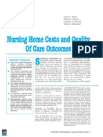 Nursing Home Costs and Quality of Care Outcomes