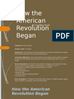 how the american revolution began 2