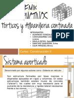 Sistemas Aporticado y Albañileria