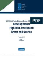 Genetica screening CA OVARIO