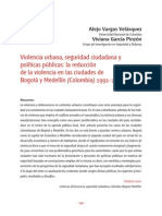 Vargas, Alejo - Violencia Urbana, Seguridad Ciudadana y Políticas Públicas