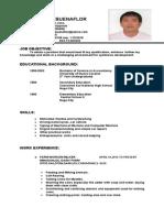 Resume of Buenaflor s.