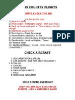 Cross Country Checklist