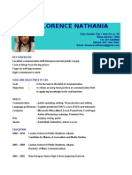 Resume of Florence Nathania