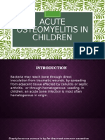 Acute Osteomyelitis in Children