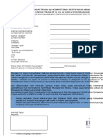 II Formulir Pendaftaran Tingkat 2,3,4,5 Khusus Untuk Individu