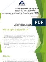 Barriers for Implementation of Six Sigma by Educational
