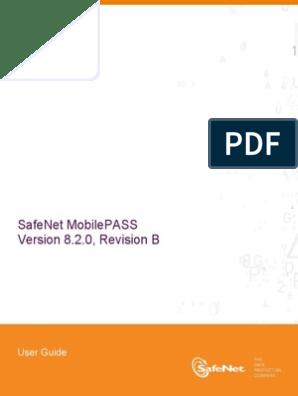 SafeNet MobilePASS User Guide, Version 8 2 0-B | Blackberry | Password