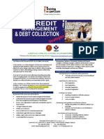 Credit Management and Debt Collection 1 Day Public Program Course Brochure by ITrainingExpert.com 2015