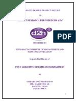 Internship Report on Videocon d2h