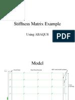 ABAQUS Stiffness Matrix
