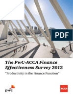 PwC ACCA Finance Effectiveness Survey 2012