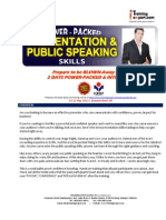 Power Packed Presentation and Public Speaking Skills by ITrainingExpert 2015 SM