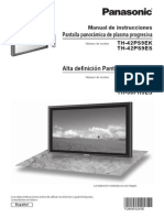 Panasonic Plasma TH42PH9EK Operating Instructions Spanish