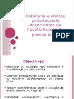 Patologia e hospitalização