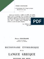 Dictionnaire Ethymologique de La Langue Grecque 1968