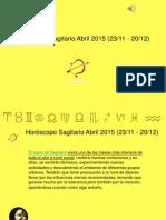 Horoscopo Sagitario Para Abril 2015