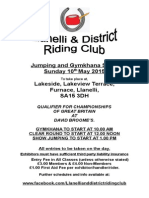 Llanelli and district riding club. Jumping show May 10th 2015