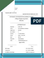 Course Plan PDU Jan - June 2015