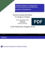 Numerical Differentiation & Integration