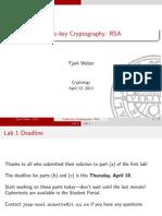 04 Public Key Cryptography RSA
