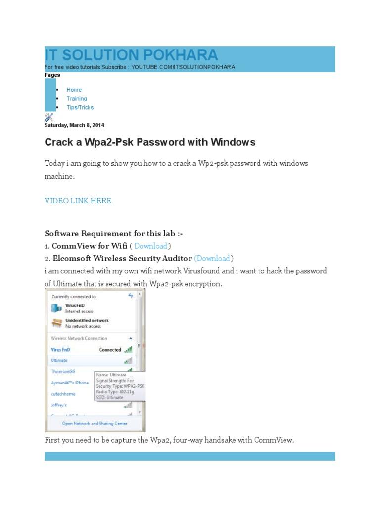 Crack wpa2 handshake online | Peatix