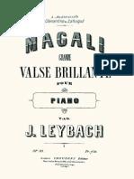 Leybach - 83 Magali - Grande Valse Brillante Op.83