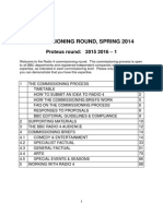 Radio 4 Master Guidelines Spring 2014