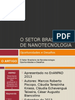 o Setor Brasileiro de Nanotecnologia